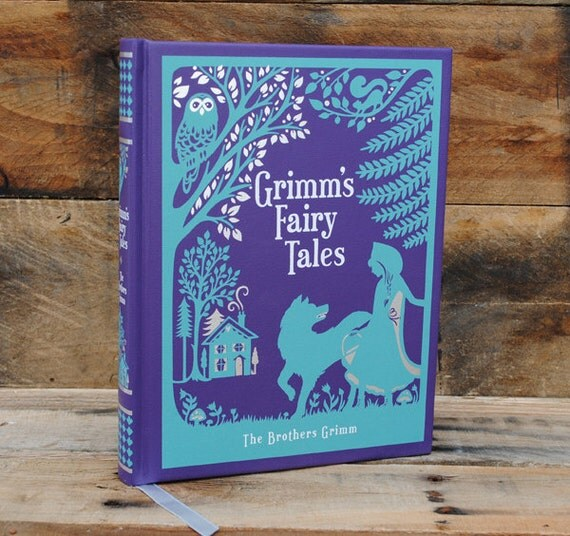Book Safe - Grimms Fairy Tales - Leather Bound Hollow Book Safe