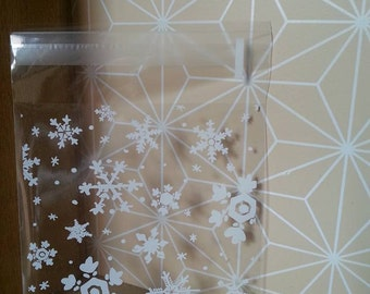 Snowflake bags-Set of 10