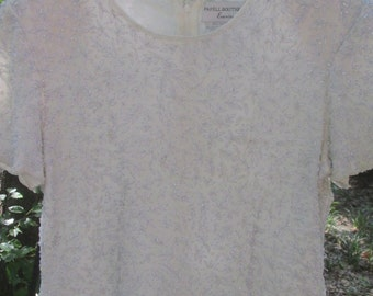 Papell Boutique Evening silk and sequin top size L