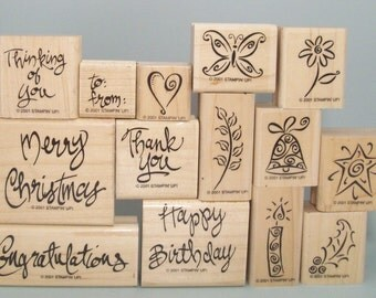 A Greeting For All Reasons 14 Piece All Occasion Stamp Set by Stampin' Up! - Christmas, Birthday, Thank You, Thinking of You, Congrats