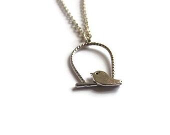 Bird on a Perch Necklace