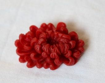 "Brooch ""red"" Chrysanthemum - Chrysanthemum"