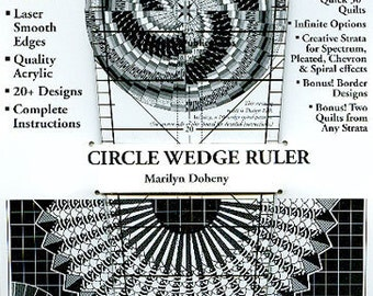 14-inch 9-degree Circle Wedge Ruler, Quilting Ruler, Marilyn Doheny