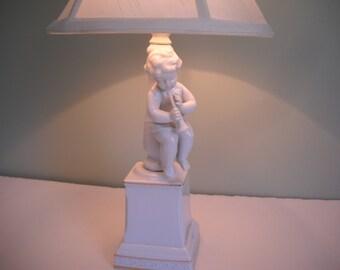 White Angel Cherub Lamp