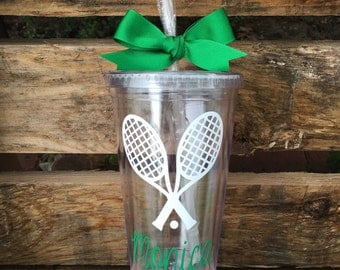 Tennis Tumbler, Personalized Tennis Tumbler, Tennis Cup, Tennis Team Gifts, Tennis Coach Gift, Tennis Gifts, Gift for Tennis Player