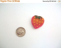 CLEARANCE Strawberry Plate, Miniature Strawberry Plate, Polymer Clay Strawberry Plate, Polymer Clay Plate, Miniature Plate, Dollhouse Plate,