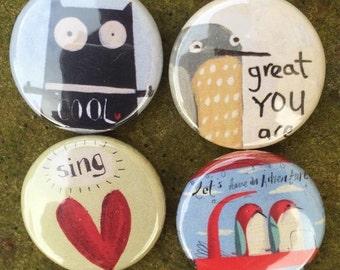 4 Badges - 'Cool' Set.