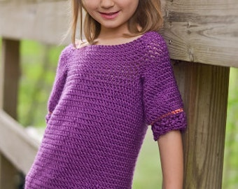 Instant Download- Crochet Pattern- Children's Layla Tunic