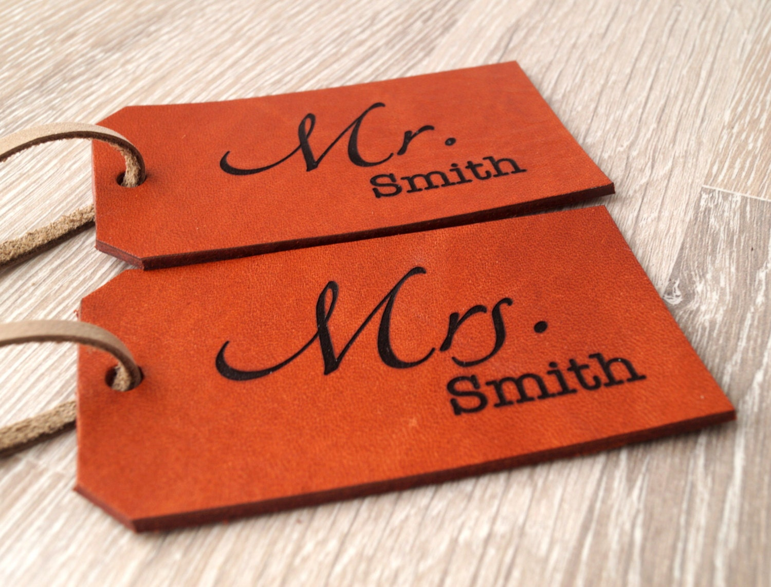 Luggage Tags: Leather Luggage Tag Personalized Luggage Tag Custom Laser