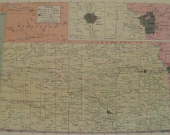 Kansas Map Topeka Wichita Kansas City Usa State Maps United States Wall Map