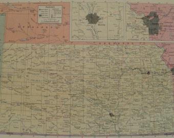 Kansas map Etsy
