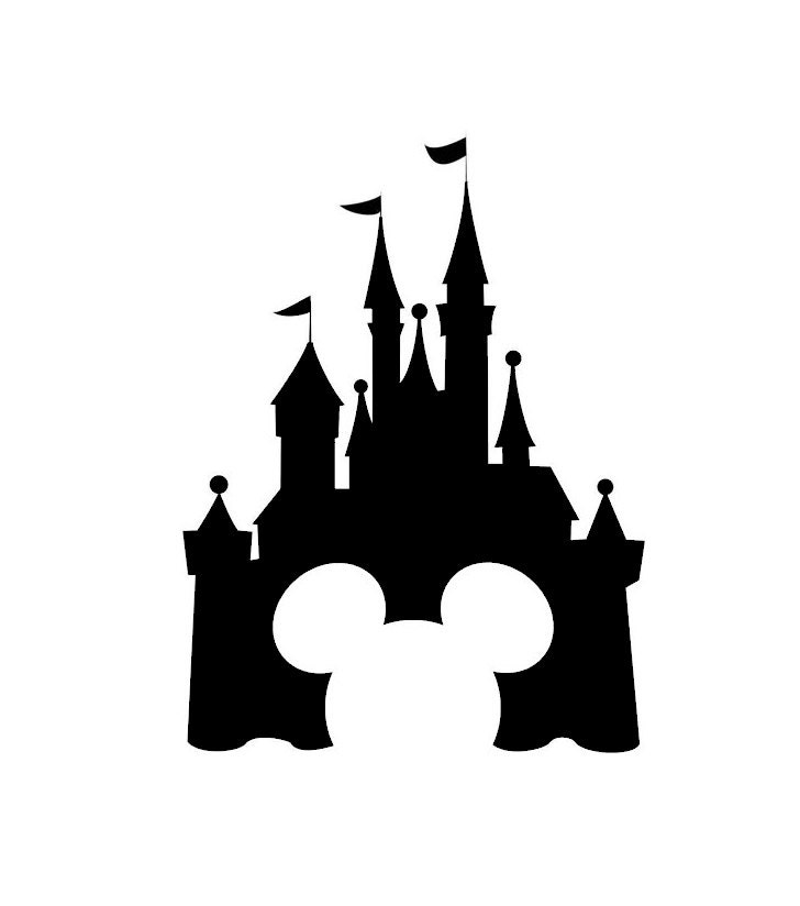 Disney Castle Decal Disney Decal Disney Castle Sticker - Disney custom vinyl stickers