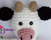 Cow Stuffed Animal / Stuffed Cow / Crochet Cow Stuffed Animal / Plush Cow / Cow Plush Toy / Crochet Plush Cow Toy / Cow Snuggly Pal