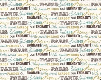 Extra 25% off 1 yard Paris and Company by My Mind's Eye for  Riley Blake 1 yard
