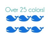 Whale Nail Decals - Vinyl, Custom choice of color