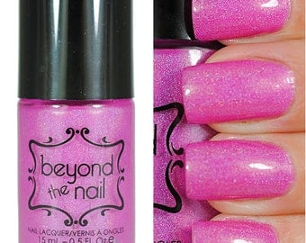 Nebula - Summer Galaxy Nail Polish - Neon Purple and Holographic