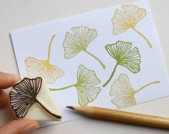 Gingko Leaf rubber stamp