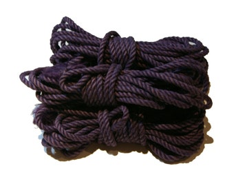 Purple 5 Hank Jute Rope Set for Shibari