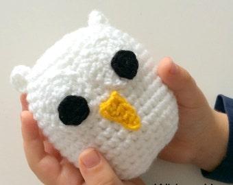 White Crochet Owl Plush Toy, Snowy White Owl Amigurumi Soft Toy, Harry Potter Nursery, Hedwig, Hogwarts Pet