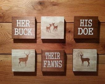 His Doe Her Buck sign