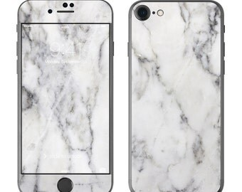 White Marble - iPhone 7/7 Plus Skin - Sticker Decal