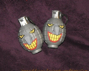 Joker face HARLEY QUINN Grenade toy prop bomb weapon from Batman the Animated Series costume accessory