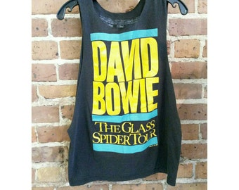 Vintage David Bowie Glass Spider Tour 1987 Muscle Tee