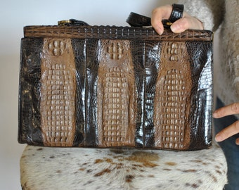 Vintage   LEATHER HANDBAG , vintage handbag ...(356)