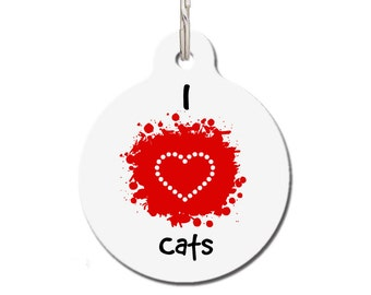 I Love Cats Pet ID Tag | FREE Personalization