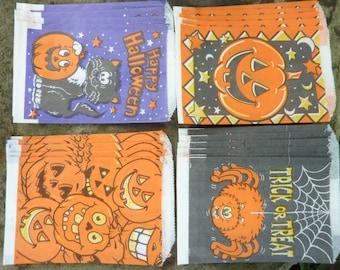 22 Vintage Halloween Treat Favor Bags Paper