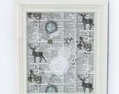 Babillard aimanté fait main recouvert de tissu cerfs dentelle organisation chambre mémo photos décor mural tableau d'affichage à aimants