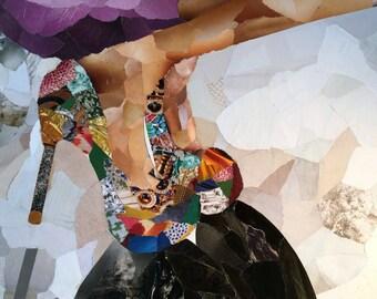 10 Blank Folded Note Cards Kaleidoscope Heels (2016)
