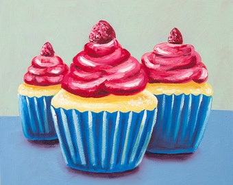 Cupcake Still Life Painting