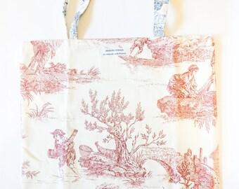 Vintage floral cotton bag