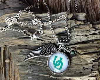 University of Oregon ducks necklace: UO ducks charm necklace