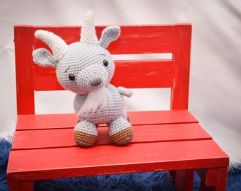 Goat Crocheted Stuffed Animal/Toy (Made to Order)