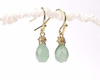 Dangle Earrings. Green Drops Earrings. Mint Drops Earrings. Mint Gemstone Earrings. Green Gemstone Earrings. Gratitude Earrings