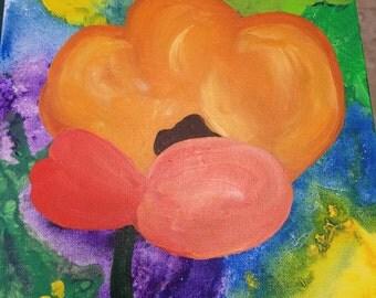 Poppy Acrylic Painting 16x20x2 inches