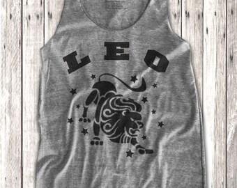 Leo Zodiac sign print  Women's Racerback Tank Top