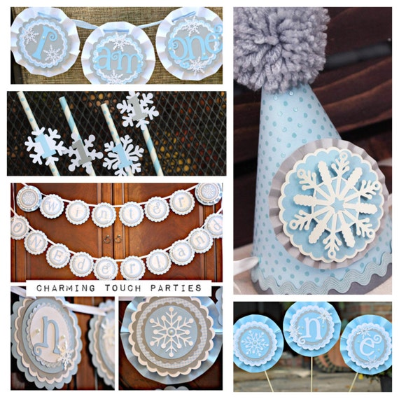BOY WINTER ONEDERLAND Birthday Party Decorations, Winter