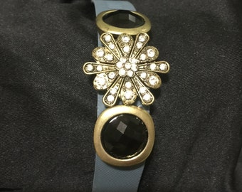 Gold Tone Rhinestone fitbit Charge Bling Bracelet Cover ** FREE SHIPPING within the U.S.**