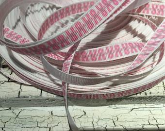 """10 yards 3/8"""" Breast Cancer Awareness grosgrain ribbon"""