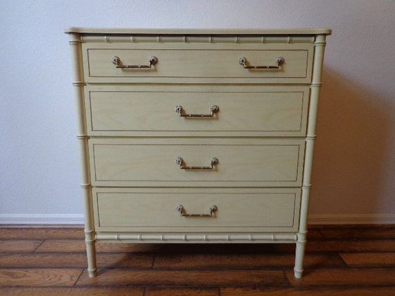 Dresser Chest Vintage Faux Bamboo Tall Dresser Coastal Chinese
