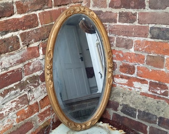 Oval Vintage Gilt Mirror