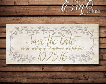 Wedding Save-the-Date Sample - Silver gold save the date