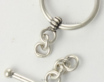 Sterling Silver 925 Bali design # T 2-10 mm  to 18 mm Silver Toggle