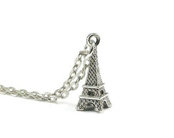 On Sale Eiffel Tower Necklace Silver Chain