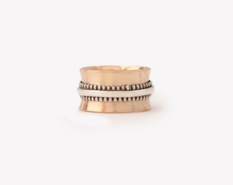 Solid 14K Gold Statement Ring