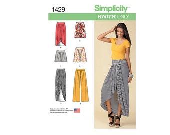 Simplicity 1429U5, Simplicity Sewing Pattern 1429U5, Misses Skirt Pattern, Misses Pants Pattern, Misses Shorts Pattern, FREE SHIP, Sz 16-24