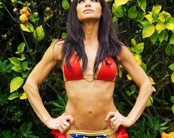 Wonder Woman scrunch bikini bottom